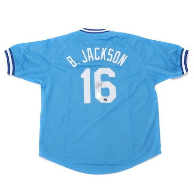 Bo Jackson Signed Kansas City Royals Replica Baseball Jersey, COA