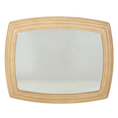 Bernhardt Blonde Oak Wall Mirror, Late 20th Century