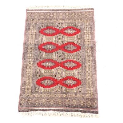 2'10 x 5'4 Hand-Knotted Afghani Bokhara Wool Rug