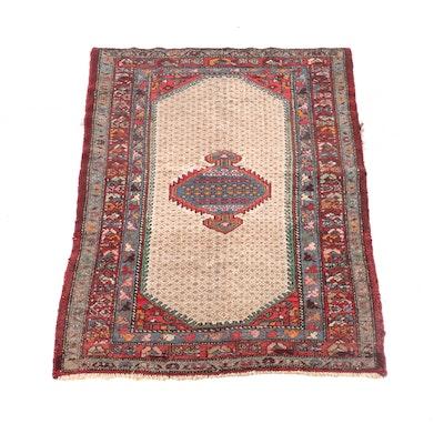 4'3 x 6'5 Hand-Knotted Persian Bijar Wool Rug