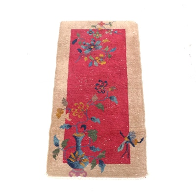 2'0 x 3'11 Hand-Knotted Chinese Nichols Art Deco Wool Rug