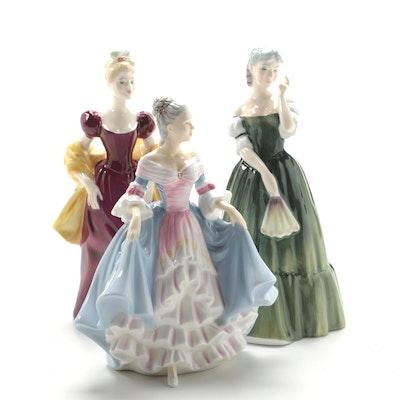 "Royal Doulton ""Gillian"", ""Loretta"", and ""Southern Belle"" Bone China Figurines"