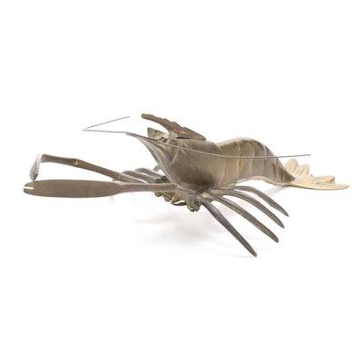 Brass Crayfish Figurine