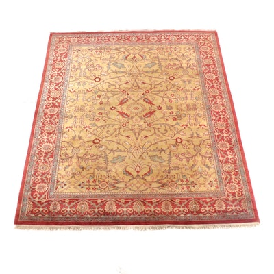 8'0 x 10'2 Hand-Knotted Indian Agra Wool Rug