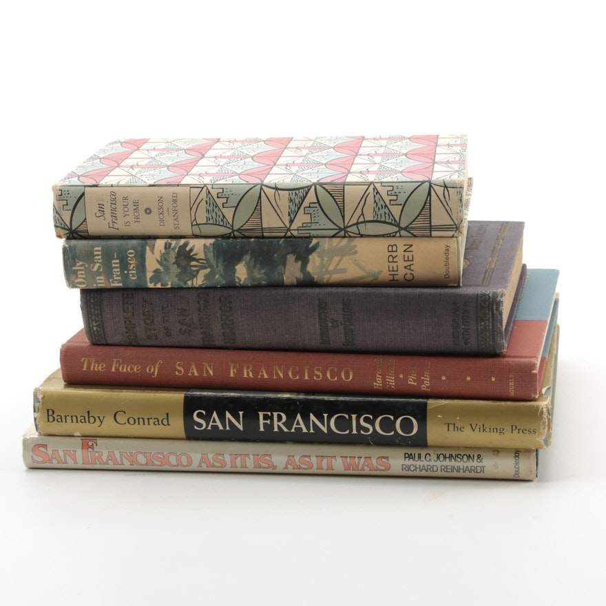 San Francisco Theme Book Collection Including First Editions