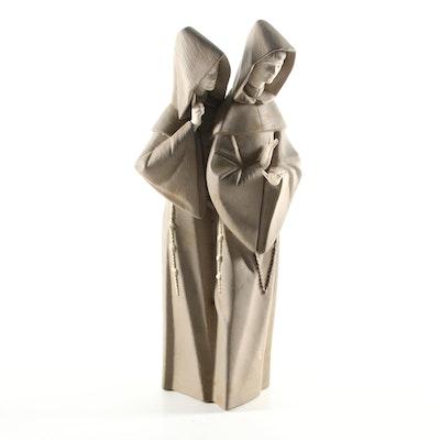 """Lladró """"Monks at Prayer"""" Porcelain Figurine"""
