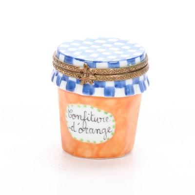Parry Vielle Hand-Painted Porcelain Orange Marmalade Limoges Box