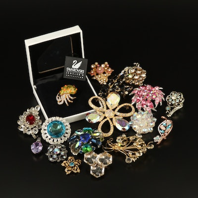 Vintage and Contemporary Rhinestone Jewelry with Sterling and Swarovski