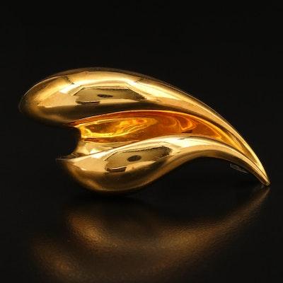 18K Gold Fur Pin