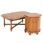 Gordon's Oak Butler Coffee Table with Storage End Table