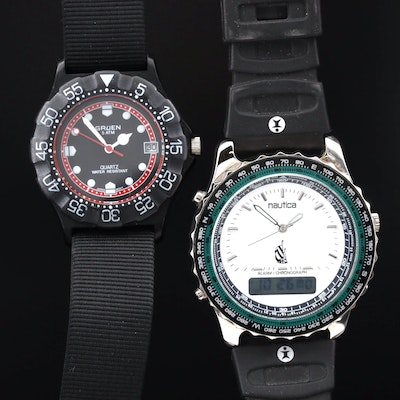 Gruen and Nautica Quartz Sport Watches