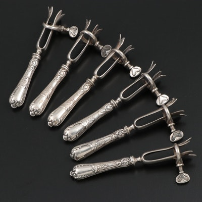 Cailar Bayard French Metal Asparagus Holders, Late 19th/Early 20th Century