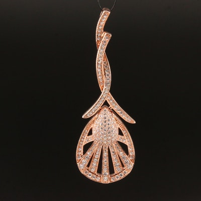 Sterling Cubic Zirconia Drop Pendant