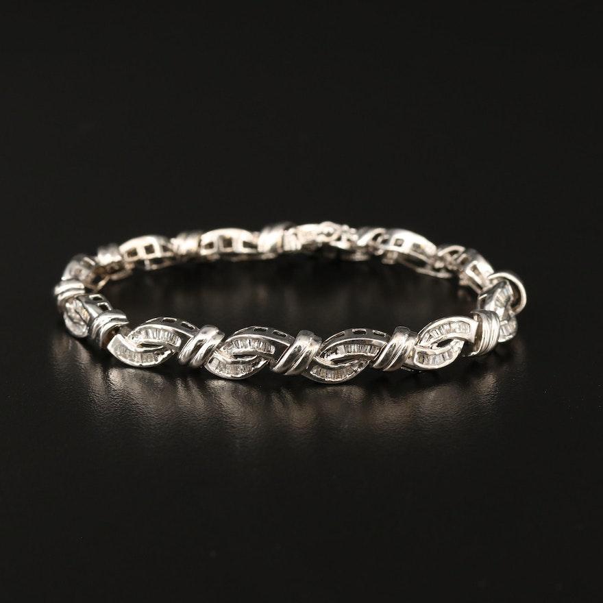 14K 2.03 CTW Diamond Line Bracelet