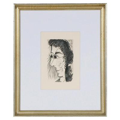 """Pablo Picasso Lithograph from """"Le Goût du Bonheur"""", 1970"""