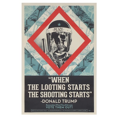 """Shepard Fairey for Remember What They Did Offset Print """"Vote Them Out!"""" 2020"""