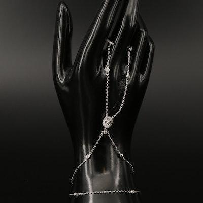 Sterling Cubic Zirconia Harem Bracelet
