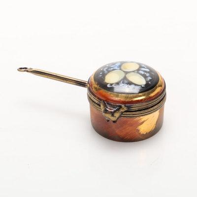 La Gloriette Hand-Painted Porcelain Egg Pan Limoges Box