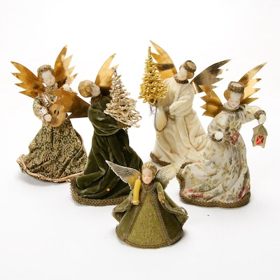 Koestel Wax Angle Christmas Tree Toppers, Mid-20th Century