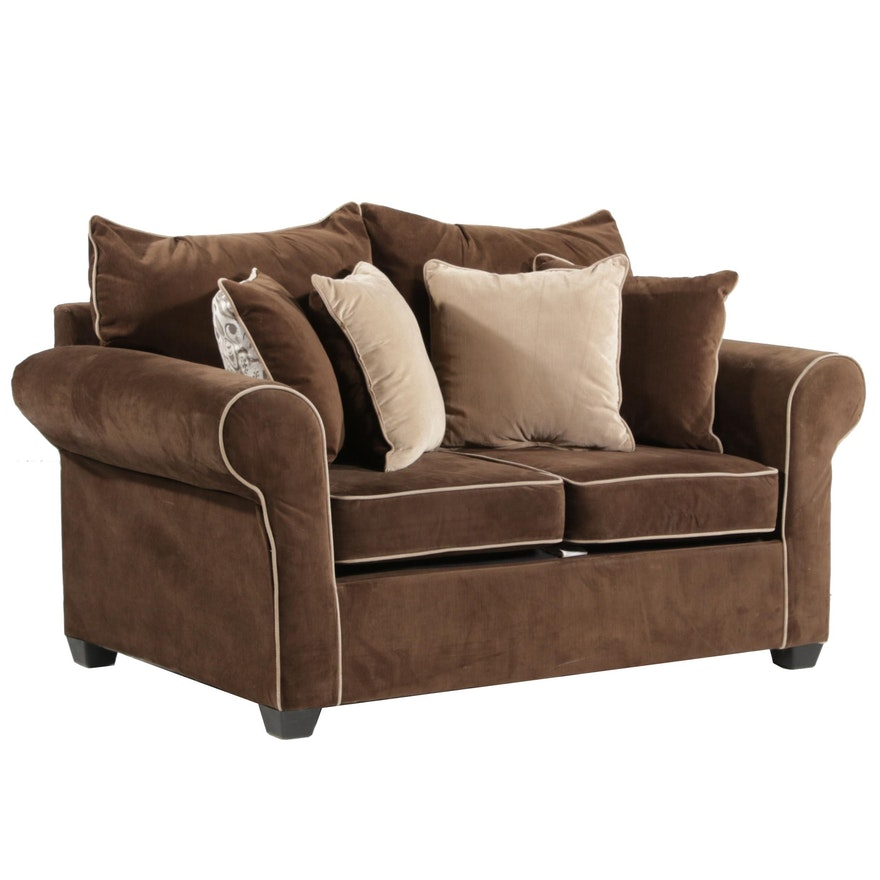 Washington Furniture Brown Upholstered Loveseat