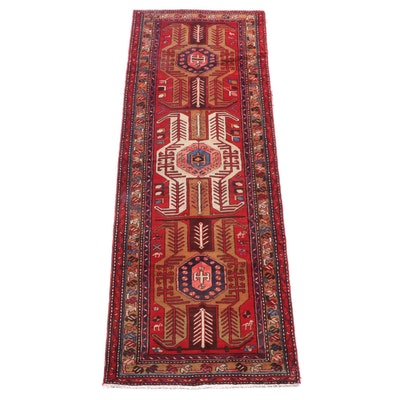 3'6 x 10'0 Hand-Knotted Caucasian Karabagh Wool Long Rug