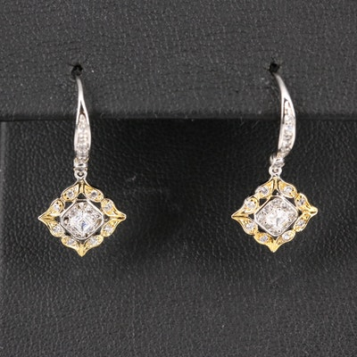 Sterling Silver Cubic Zirconia Dangle Earrings