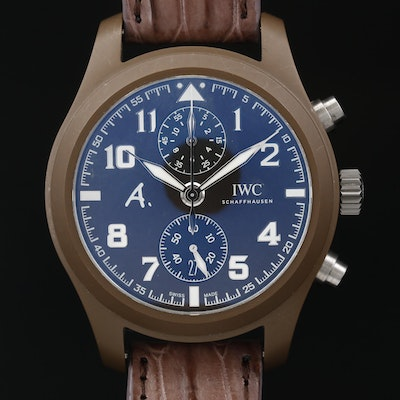 "IWC Pilots Watch Chrono ""The Last Flight"" Silicone and Titanium Wristwatch"