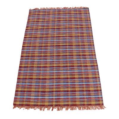 5'0 x 8'7 Handwoven Indian Kilim Rug