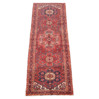 3'6 x 10'9.5 Hand-Knotted Persian Josheghan Long Rug
