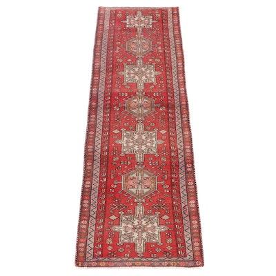 3'1 x 10'3 Hand-Knotted Persian Karaja Wool Carpet Runner
