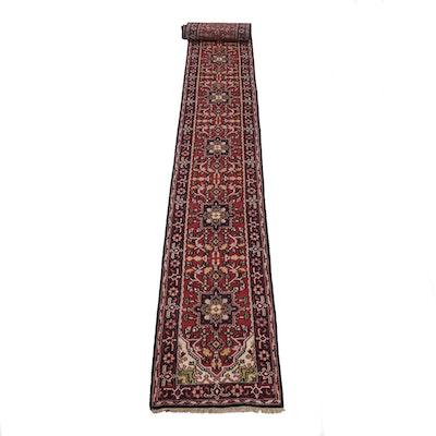 2'8 x 19'10 Hand-Knotted Indo-Persian Heriz Stairway Runner Rug