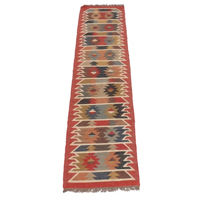 2'6 x 10'7 Handwoven Turkish Kilim Runner Rug