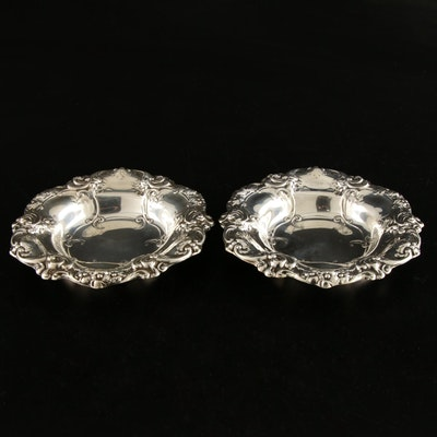 Gorham Sterling Silver Scroll and Floral Rimmed Bon Bon Bowls