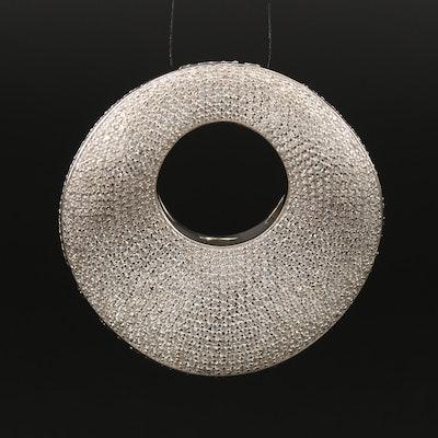 Sterling Silver Pavé Cubic Zirconia Slide Pendant