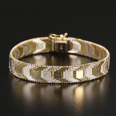 Sterling Silver Two-Tone Riccio Link Bracelet