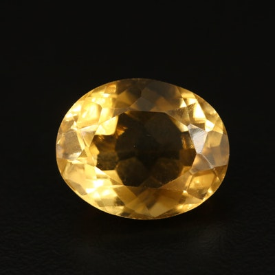 Loose 11.26 CT Oval Faceted Citrine
