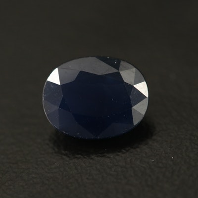 Loose 2.28 CT Oval Faceted Sapphire