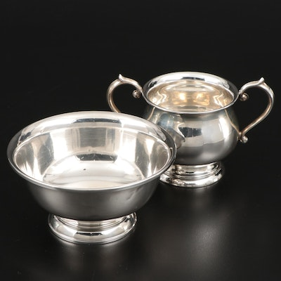 F.B. Rogers Silver Co. Sterling Sugar Dish and Bowl