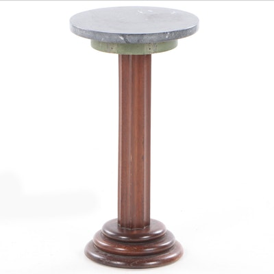 Marble-Top Pedestal Table, 20th Century