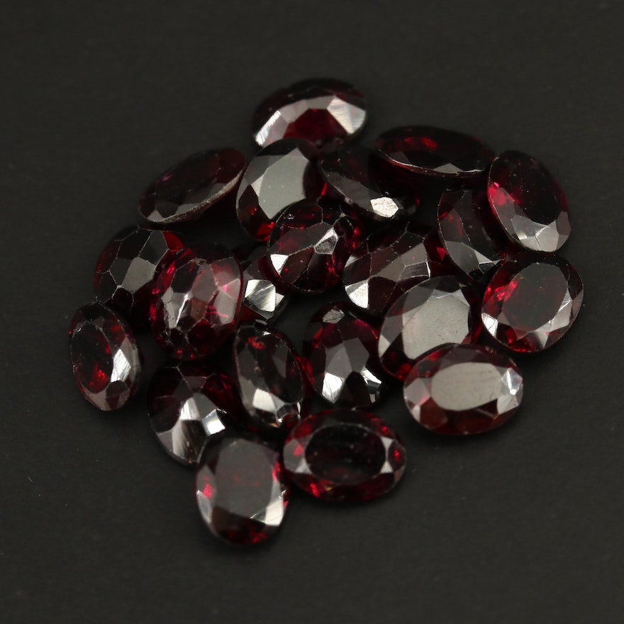 Loose 30.76 CTW Oval Faceted Garnets