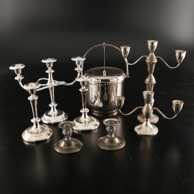 Duchin Creation Weighted Sterling Silver Three Arm Candelabras and More