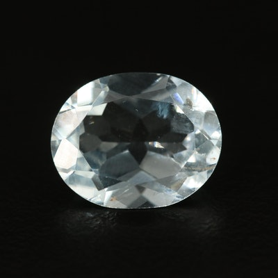 Loose 3.75 CT Oval Faceted Aquamarine