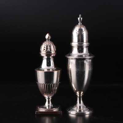 Reed & Barton and Other Silver Plate Salt Shaker, Mid to Late 20th Century