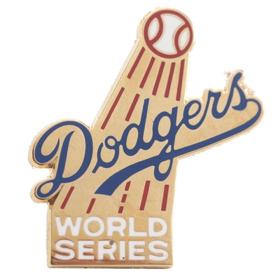 1977 Los Angeles Dodgers World Series Press Pin, Balfour