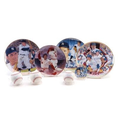 Pete Rose, Yogi Berra, Nolan Ryan, Whitey Ford Ceramic Collector Plates and More