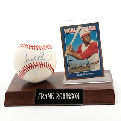 Frank Robinson Signed Rawlings American League Baseball  Visual COA