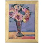 "Jose Trujillo Oil Painting ""Roses,"" 2019"