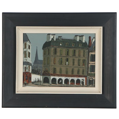Roger Kuntz Serigraph of a Paris City Street