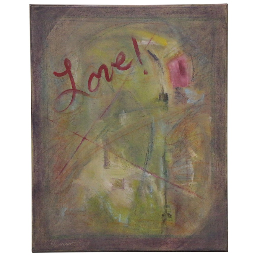"""Rebecca Manns Oil Painting """"Realization of Love,"""" 2020"""