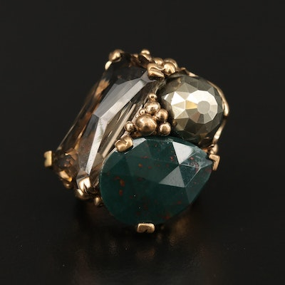 Stephen Dweck Citrine and Bloodstone Ring